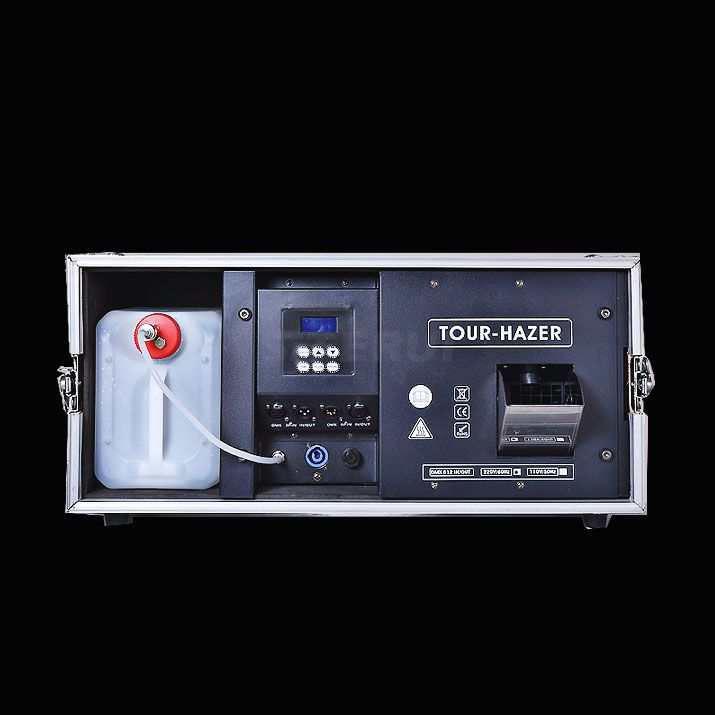 2000w Morning fog machine LCD+DMX controller with fligt case
