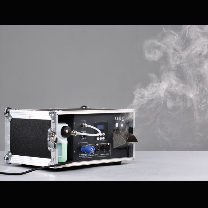 1000W morning haze machine, DMX+LCD with flight case